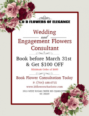 Wedding Special  in Charlotte, NC   L & D FLOWERS OF ELEGANCE