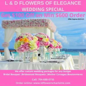 Wedding Special  in Charlotte, NC | L & D FLOWERS OF ELEGANCE