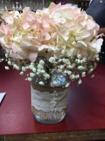 SWEET HYDRANGEAS  TABLE DECOR