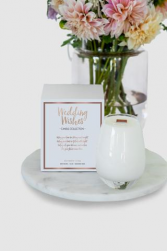 Wedding Wishes Candle (flowers not included) Special Products