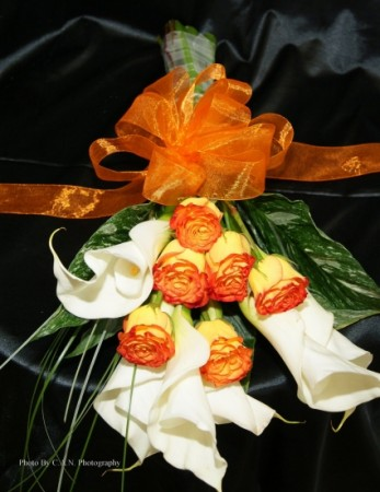 Calla Lillies Roses Bouquet