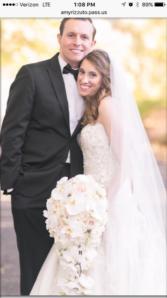 Weddings by barrys Cascade bouquet