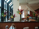 Hotel displays Weekly flower service