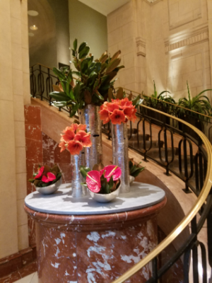 Hotel displays Weekly flower service in New York, NY | FLOWERS BY RICHARD NYC