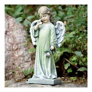 WEEPING ANGEL RESIN - NAP-17344 Memorial Tribute in Maple Heights, OH | NOVAK'S FLOWER SHOPPE