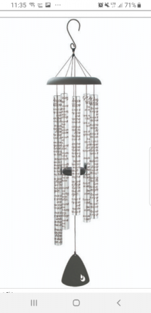 """""""Weeping Willow"""" 44"""" wind chime"""