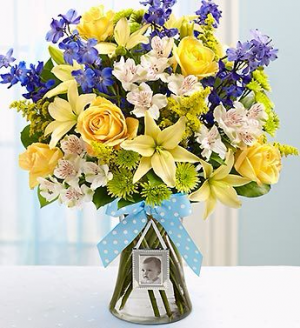 Welcome Baby Boy Arrangement in Winston Salem, NC | RAE'S NORTH POINT FLORIST INC.