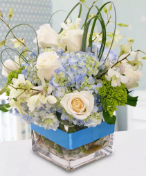Welcome Baby Boy Arrangement
