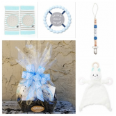 Welcome Baby Boy Basket Bella Tunno Gift Basket
