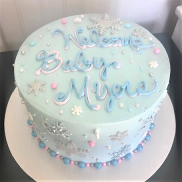 Welcome Baby Cake Sweet Blossoms