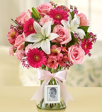 Welcome Baby Girl Arrangement