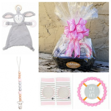 Welcome Baby Girl Basket Bella Tunno Gift Basket