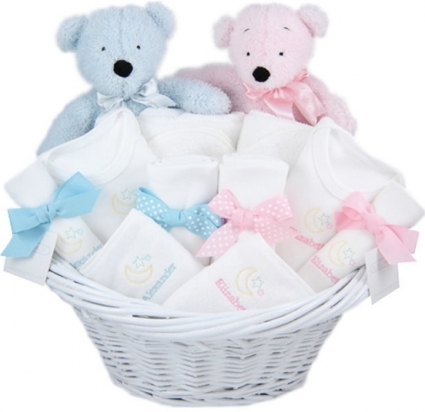 WELCOME BABY TWINS GIFT BASKET