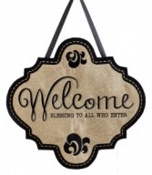 Welcome Blessings Door/Wall Decor