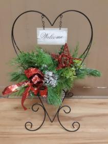Welcome Christmas Planter