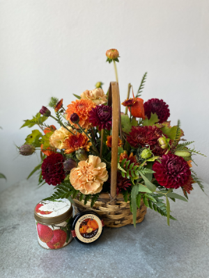Welcome Fall! Basket Floral Gift Combo in La Grande, OR   FITZGERALD FLOWERS