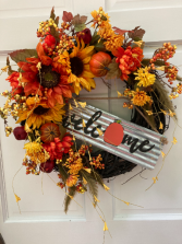 Welcome Fall Wreath Silk