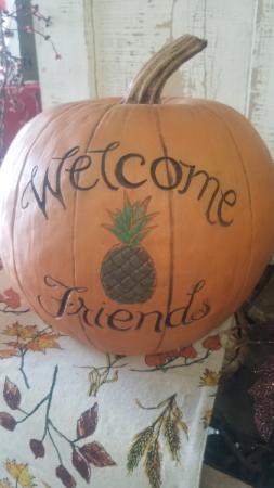 Welcome Friends Pumpkin Gift