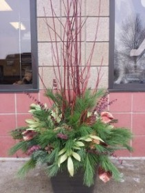 Welcome Home Evergreen arrangement- available for only