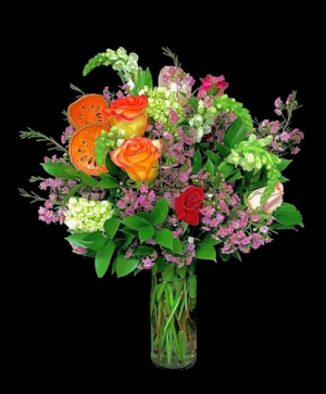 Welcome Home Orange Slices and Mixed Wax Flowers in Plainview, TX | Kan Del's Floral, Candles & Gifts