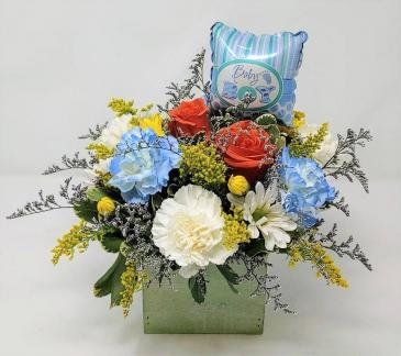 Welcome Little One Baby Boy Arrangement