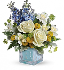 Welcome Little One Blue Bouquet   TNB08-1 Keepsake Arrangement