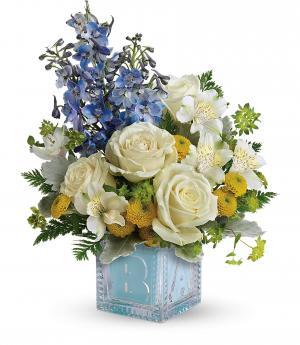 Welcome Little One - Blue  Fresh Arrangement in Rossville, GA | Ensign The Florist