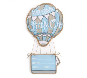 Welcome Little One Boy Door Hanger