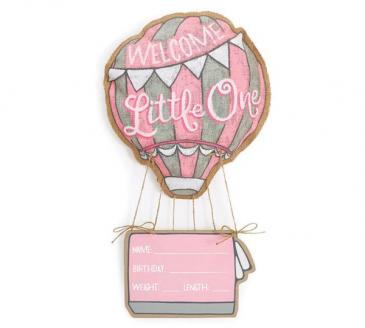 Welcome Little One Girl Door Hanger