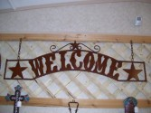 """Welcome' Ribbon Sign Metal art"