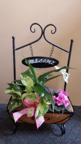Welcome Sign Planter
