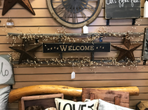Welcome Sign With Stars