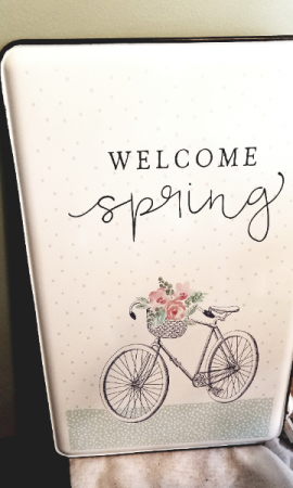 Welcome Spring Sign Home Decor