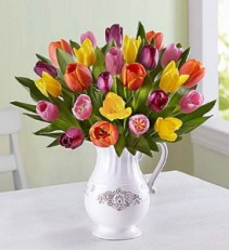 Welcome Spring Tulip Bouquet  Fresh Arrangement