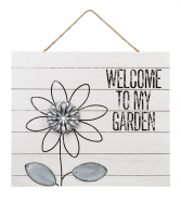 Welcome To My Garden Wall Plaque