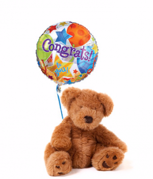 Well Done! Teddy Bear & Balloon  in Valley City, OH | HILL HAVEN FLORIST & GREENHOUSE