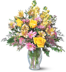Isn't She Lovely mixed seasonal vase arrangement