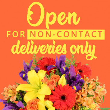 We're open for no contact delivery and pickups