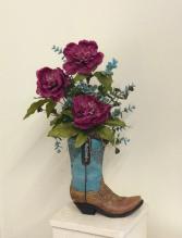 Western boot Silk Arrangement