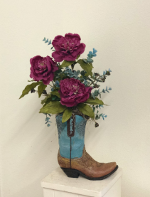 Western boot Silk Arrangement