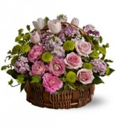 WF103 Pink Country Basket