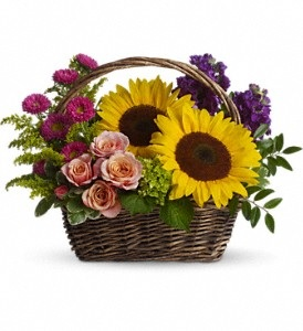 "WF137 ""SOLD OUT"" Sunny Sun Flowers Basket"