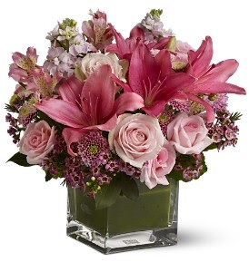 WF172 SOLD OUT  Pink Mini Roses & Lilies