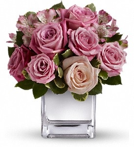 WF191 Cool Water Rose Bouquet