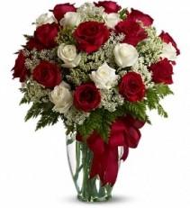 WF232 12 Red & 8 White Roses