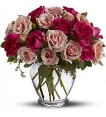 WF236 Mixed Pink Roses Bouquet