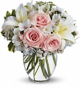 WF240 Pink Roses & white Lilies