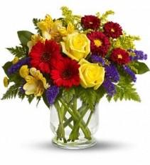 WF280 Vivid Flowers Bouquet