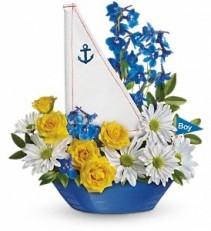 WF346 Teleflora's Baby Boy Ahoy Bouquet