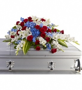 WFC116 Casket Spray - Devotion & Honor  in Westford, MA | WESTFORD FLORIST
